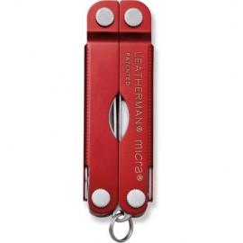 LEATHERMAN TOOL MICRA RED ALUMINUM LTG64330181N