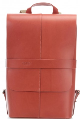 ΣΑΚΙΔΙΟ ΔΕΡΜΑΤΙΝΟ ΠΛΑΤΗΣ BROOKS PICCADILLY DAY PACK BB020 A07259 LEATHER BACKPACK BRICK