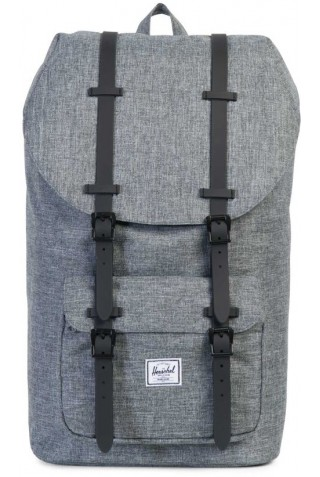 HERSCHEL LITTLE AMERICA CLASSICS BACKPACK Raven Crosshatch/Black Rubber