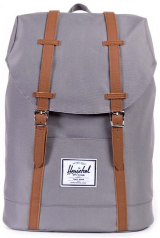 ΣΑΚΙΔΙΟ ΠΛΑΤΗΣ HERSCHEL 10066-00006-OS RETREAT BACKPACK  GREY