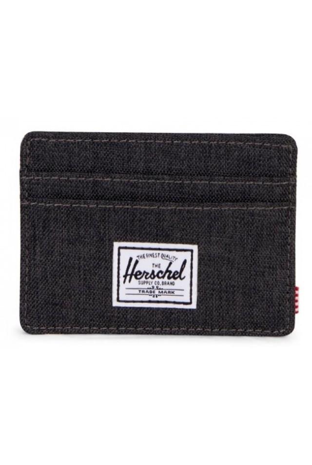 HERSCHEL 10360-02090 CHARLIE RFID BLACK CROSSHARTCH