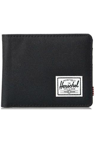 ΠΟΡΤΟΦΟΛΙ HERSCHEL 10363-02090 ROY RFID BLACK CROSSHARTCH