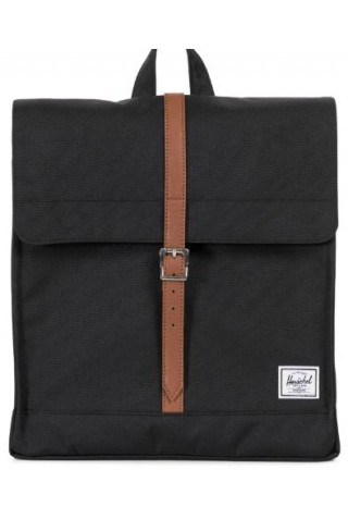 ΣΑΚΙΔΙΟ ΠΛΑΤΗΣ HERSCHEL 10486-00001 CITY MID BLACK/ SYNTHETIC TAN
