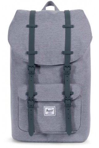 HERSCHEL 10014-02137 LITTLE AMERICA MID GREY CROSSHATCH