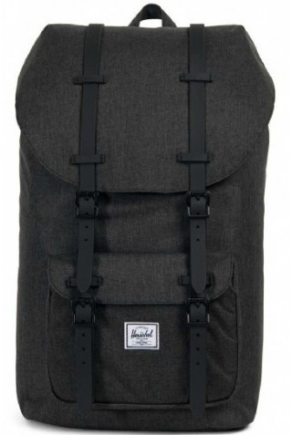 ΣΑΚΙΔΙΟ ΠΛΑΤΗΣ HERSCHEL 10014-02093 LITTLE AMERICA BLACK CROSSHARCH