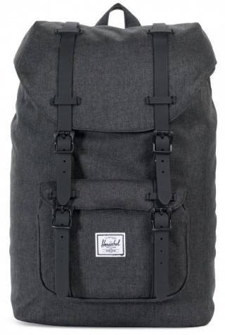 ΣΑΚΙΔΙΟ ΠΛΑΤΗΣ HERSCHEL 10020-02093 LITTLE AMERICA MID-VOLUME BLACK CROSSHATCH