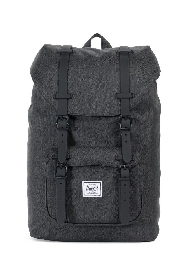 HERSCHEL 10020-02093 LITTLE AMERICA MID-VOLUME BLACK CROSSHATCH