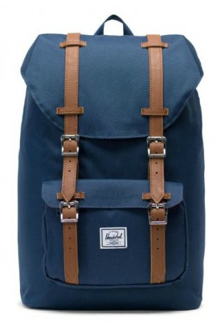 ΣΑΚΙΔΙΟ ΠΛΑΤΗΣ HERSCHEL 10020-00007-OS LITTLE AMERICA BACKPACK MID NAVY/Tan Synthetic Leather