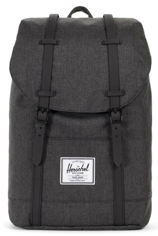 ΣΑΚΙΔΙΟ ΠΛΑΤΗΣ HERSCHEL 10066-02093 RETREAT BLACK CHROSSHARCH