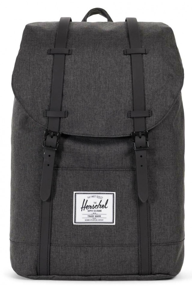 0a27cd1904ab HERSCHEL 10066-02093 RETREAT BLACK CHROSSHARCH - Everyday Carry