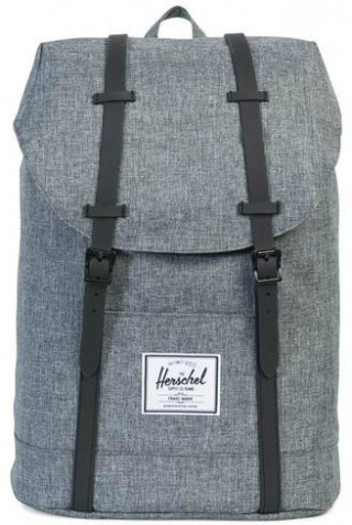 HERSCHEL RETREAT CLASSICS BACKPACK Raven Crosshatch/Black Rubber