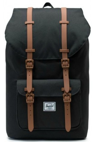 HERSCHEL 10014-02462 LITTLE AMERICA BLACK/SADDLE