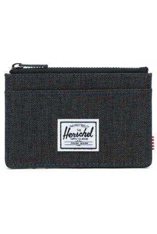 HERSCHEL 10397-02090 OSCAR WALLET RFID BLACK CROSSHATCH