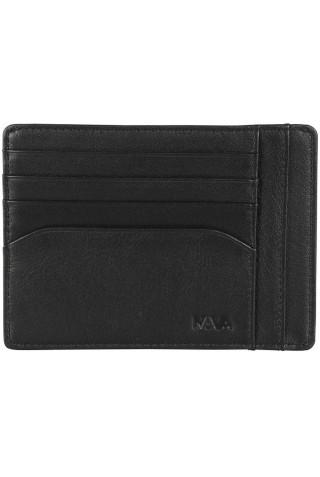 NAVA SM415N SMOOTH DOC. & CREDIT CARD HOLDER BLACK