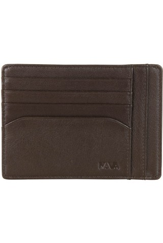 NAVA SM415BW SMOOTH DOC. & CREDIT CARD HOLDER BROWN