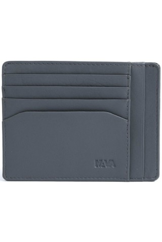 NAVA SM415GR SMOOTH DOC. & CREDIT CARD HOLDER GREY