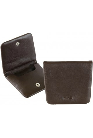 NAVA SM490BW SMOOTH LEATHER COIN CASE BROWN