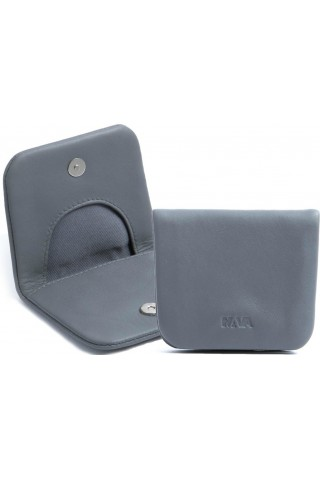 NAVA SM490GR SMOOTH LEATHER COIN CASE GREY