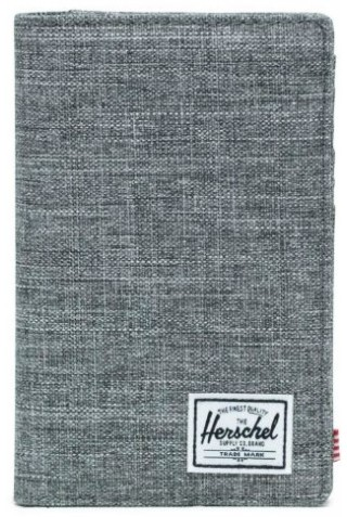 HERSCHEL 10399-00919 SEARCH WALLET RFID RAVEN CROSSHATCH