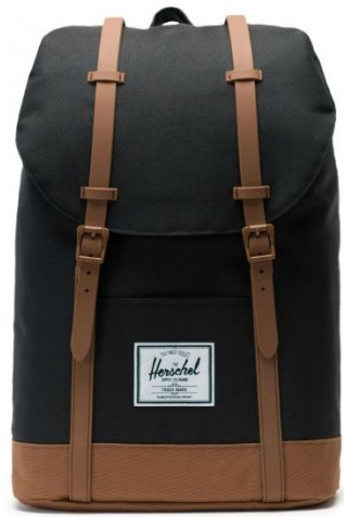 ΣΑΚΙΔΙΟ ΠΛΑΤΗΣ HERSCHEL 10066-02462 RETREAT BACKPACK BLACK SADDLE BROWN