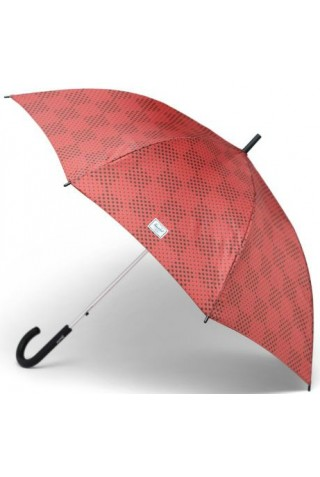 ΟΜΠΡΕΛΛΑ HERSCHEL 15034-00343-OS SINGLE STAGE UMBRELLA MINERAL RED CHECKER DOTS/PLUM
