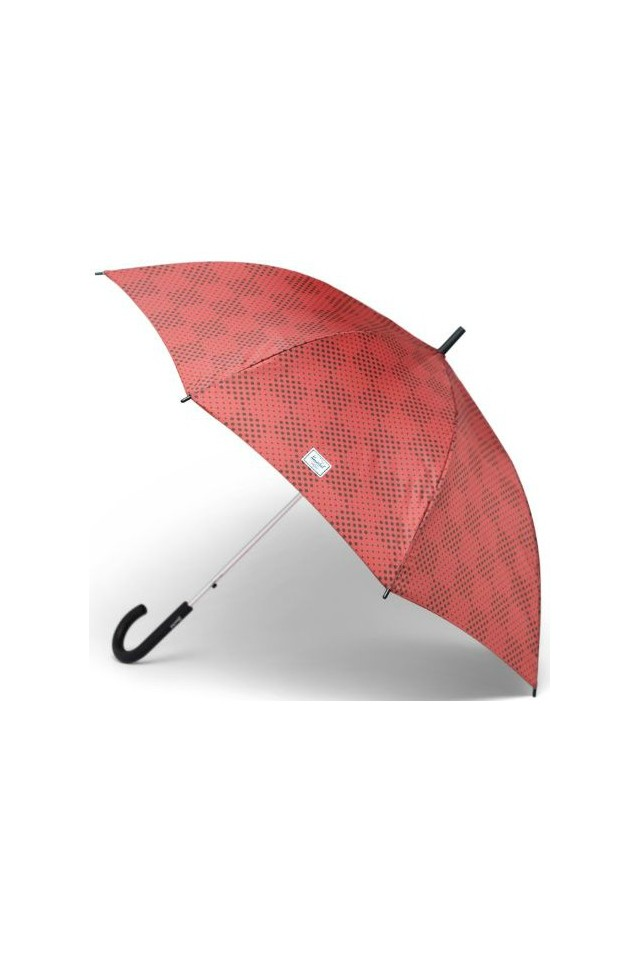 HERSCHEL 15034-00343-OS SINGLE STAGE UMBRELLA MINERAL RED CHECKER DOTS/PLUM
