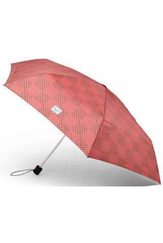 HERSCHEL 15033-00343-OS TRIPLE STAGE UMBRELLA MINERAL RED CHECKER DOTS/PLUM