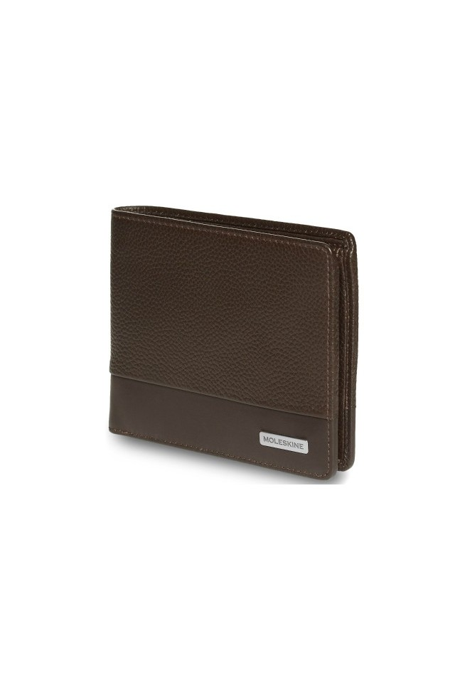 ΠΟΡΤΟΦΟΛΙ MOLESKINE CLASSIC MATCH HORIZONTAL LEATHER WALLET BROWN ET84CMWHP19