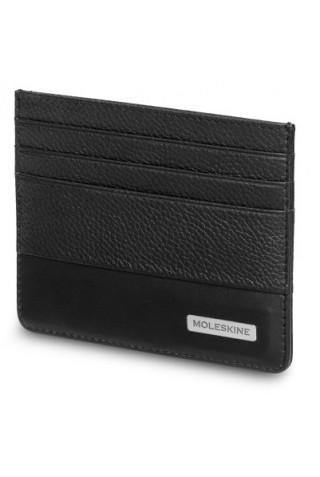 MOLESKINE CLASSIC MATCH CARD LEATHER WALLET BLACK ET84CMWCABK