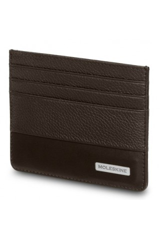 MOLESKINE CLASSIC MATCH CARD LEATHER WALLET BROWN ET84CMWCAP19