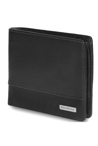 MOLESKINE CLASSIC MATCH HORIZONTAL LEATHER WALLET BLACK ET84CMWHBK