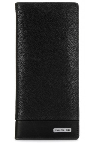 MOLESKINE CLASSIC MATCH SLIMFOLD LEATHER WALLET BLACK ET84CMWSFBK