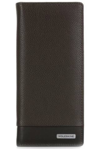 MOLESKINE CLASSIC MATCH SLIMFOLD LEATHER WALLET BROWN ET84CMWSFP19