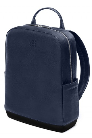 ΔΕΡΜΑΤΙΝΟ ΣΑΚΙΔΙΟ ΠΛΑΤΗΣ MOLESKINE CLASSIC LEATHER LAPTOP 15'' BACKPACK SAPPHIRE ET84BKB20