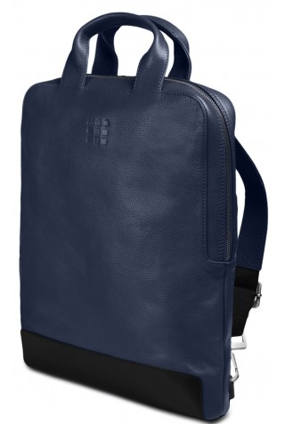 ΔΕΡΜΑΤΙΝΟ ΣΑΚΙΔΙΟ ΠΛΑΤΗΣ MOLESKINE VERTICAL DEVICE LAPTOP 15'' BACKPACK SAPPHIRE ET84DBVB20