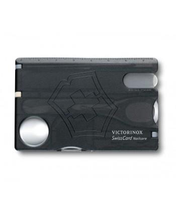 VICTORINOX NO. 0.7240.T3 SWISSCARD NAILCARE BLACK TRANS