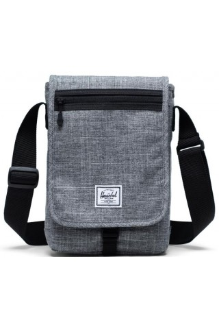 HERSCHEL 10689-00919 LANE SMALL MESSENGER Raven Crosshatch