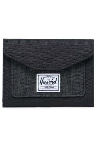 HERSCHEL 10767-03520-OS ORION WALLET BLACK/BLACK CROSSHATCH