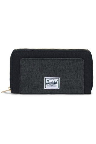 HERSCHEL 10769-03520-OS THOMAS RFID WALLET BLACK/BLACK CROSSHATCH