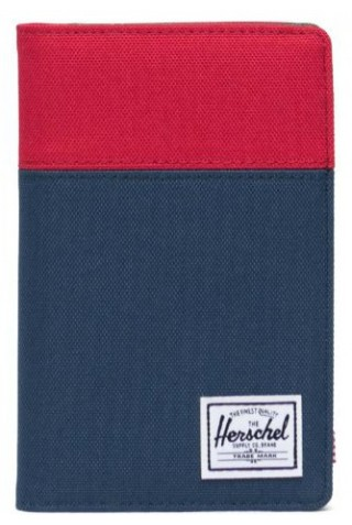 HERSCHEL 10399-03563 WALLET SEARCH Passport Holder Red/Navy/Woodland Camo