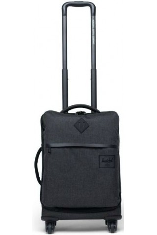 HERSCHEL 10670-02090-OS HIGHLAND CARRY ON BLACK CROSSHATCH