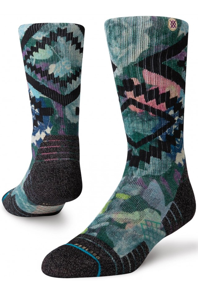 STANCE SOCKS A588A20DRC-GRN-GREEN DESERT ROSE CREW FEEL360 Hike
