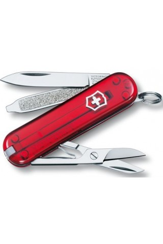VICTORINOX NO. 0.6223.T CLASSIC SD TRANSLUTED RED