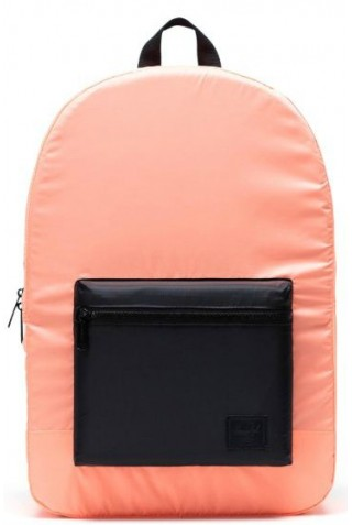 HERSCHEL 10614-03902-OS PACKABLE DAYPACK BACKPACK NEON ORANGE BLACK