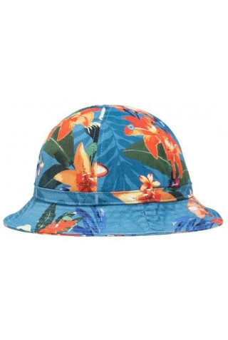 HERSCHEL 1133-1284-XL COOPERMAN BUCKET HUT Summer Floral Heaven Blue L/XL