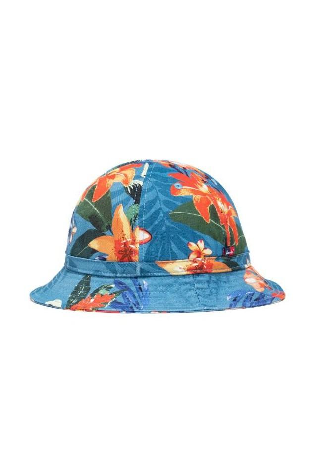 HERSCHEL 1133-1284-XL COOPERMAN BUCKET HUT Summer Floral Heaven Blue L/XL