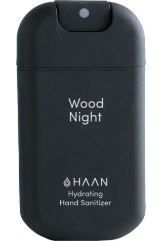 HAAN HAND SANITIZER POCKET WOOD NIGHT BLACK