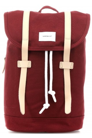 SANDQVIST SQA1355 STIG BACKPACK BURGUNDY 14L