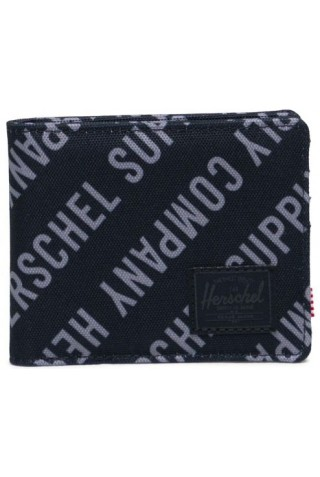 ΠΟΡΤΟΦΟΛΙ HERSCHEL 10363-04100-OS ROY RFID WALLET Roll Call Black/Sharkskin