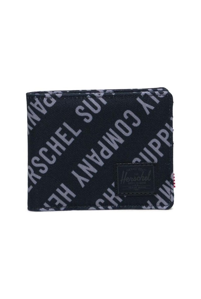 HERSCHEL 10363-04100-OS ROY RFID WALLET Roll Call Black/Sharkskin